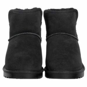 Kirkland Signature Women/'s Shearling Short Wedge Boot Size 6 Black NIB NWT